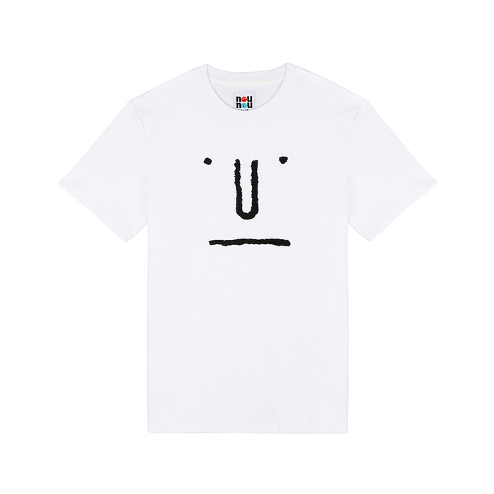 [SS18 NOUNOU] Face S3 T-Shirts(White) STEREO-SHOP