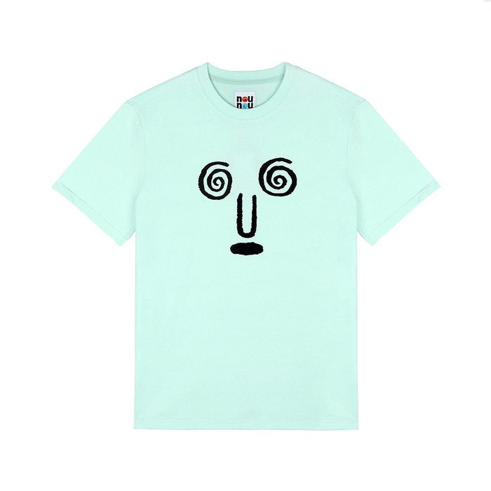 [SS18 NOUNOU] Face S3 T-Shirts(Mint) STEREO-SHOP