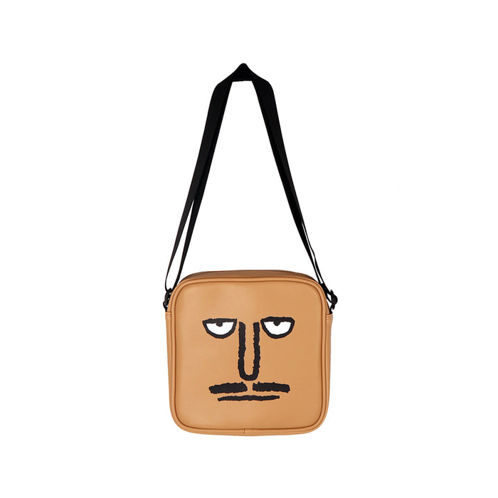5月28日预购[SS18 NOUNOU] Face Shoulder Bag(Beige) STEREO-SHOP