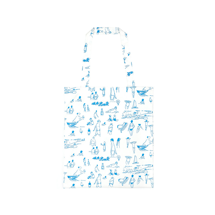 [SS18 NOUNOU] Summer Beach Tote Bag(White) STEREO-SHOP