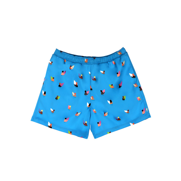 [SS18 NOUNOU] Surfer Pattern Short Pants(Blue) STEREO-SHOP