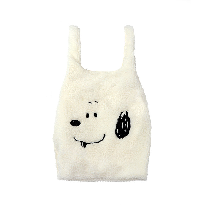 [FW18 Peanuts] Boa Bag(White) STEREO-SHOP