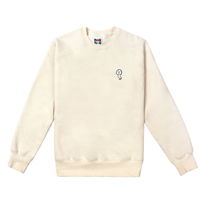 [FW18 NOUNOU] Ghost Fleece Sweatshirts(Ivory) STEREO-SHOP