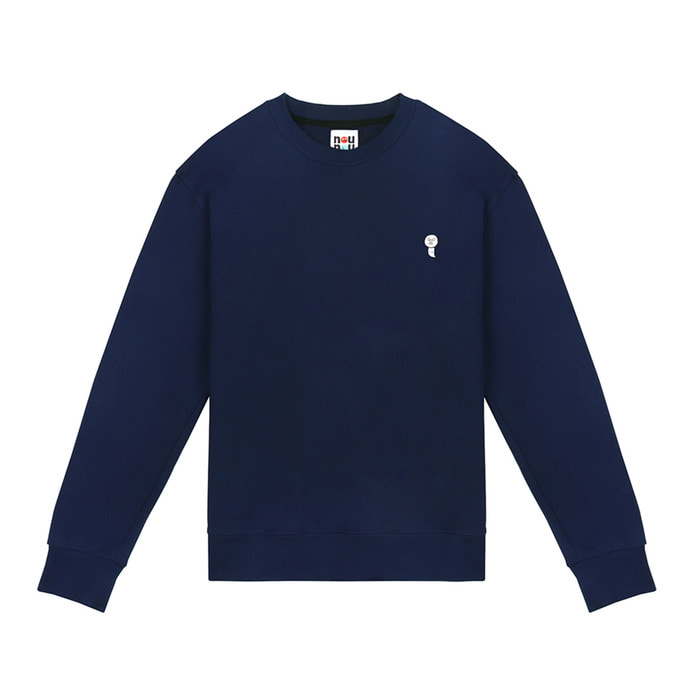 [FW18 NOUNOU] Ghost Fleece Sweatshirts(Navy) STEREO-SHOP