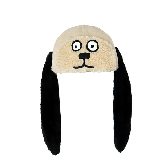 [FW18 NOUNOU] Dog Face Trapper Hat(Ivory) STEREO-SHOP